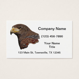 Harris Hawk Faux Embroidery Business Card