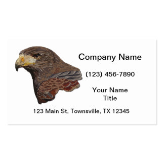 Harris Hawk Faux Embroidery Double-Sided Standard Business Cards (Pack Of 100)