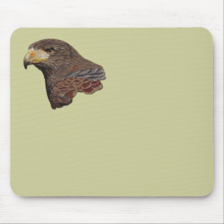 Harris Hawk Faux Embroidery Mouse Pad