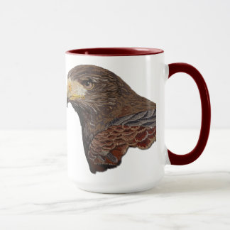 Harris Hawk Faux Embroidery Mug