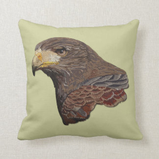 Harris Hawk Faux Embroidery Pillows
