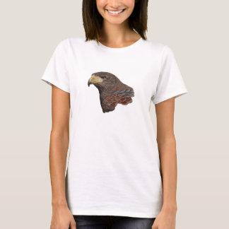 Harris Hawk Faux Embroidery T-Shirt