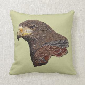 Harris Hawk Faux Embroidery Throw Pillows