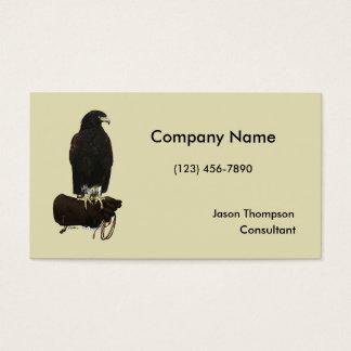 Harris Hawk on Glove Business Card