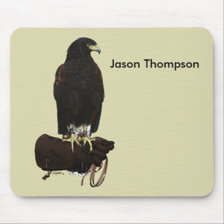 Harris Hawk on Glove Mouse Pad