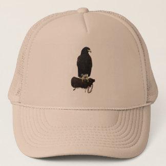 Harris Hawk on Glove Trucker Hat