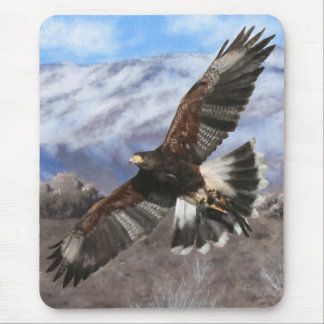 Harris Hawk- pastel Mouse Pad