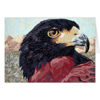 Harris Hawk textile Card