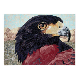 Harris Hawk-textile Poster