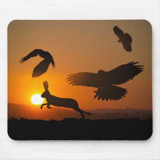 Harris Hawks Hunting Mouse Pad