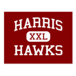 Harris - Hawks - Middle School - San Antonio Texas Post Card