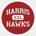Harris - Hawks - Middle School - San Antonio Texas Round Sticker