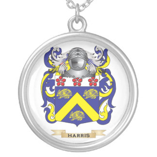 Harris-(Ireland) Coat of Arms (Family Crest) Silver Plated Necklace