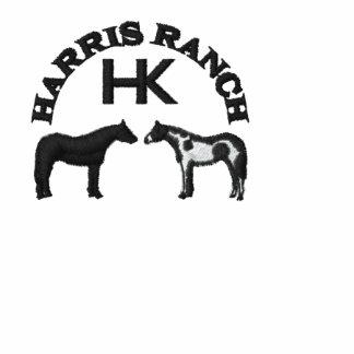 Harris Ranch Embroidered Zip Hoodie (black logo)