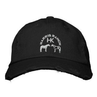 Harris Ranch White Logo Embroidered Baseball Cap
