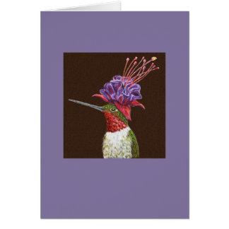 Harris the hummingbird card