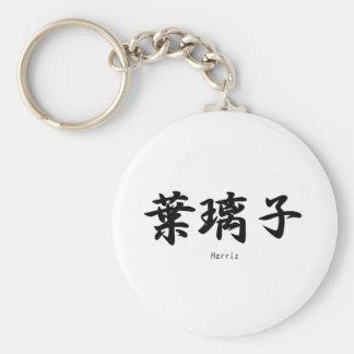 Harris tradujo a símbolos japoneses del kanji llavero personalizado