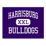 Harrisburg - Bulldogs - High - Harrisburg Illinois Postcard