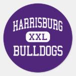 Harrisburg - Bulldogs - High - Harrisburg Illinois Round Stickers