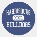 Harrisburg Bulldogs Middle Harrisburg Round Sticker