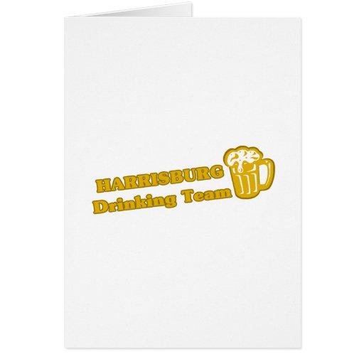 Harrisburg Drinking Team tee shirts Greeting Card