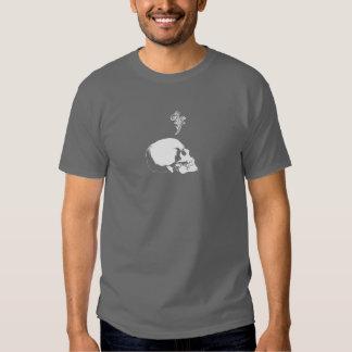Harrisburg grey skull front tee shirt