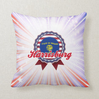 Harrisburg, OR Throw Pillow