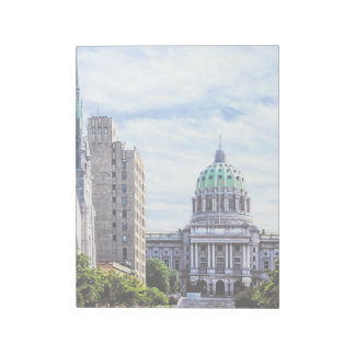 Harrisburg PA - Capitol Seen from State Street Note Pad