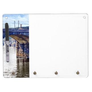 Harrisburg PA - Market Street Bridge Dry Erase Board With Keychain Holder