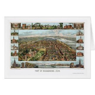 Harrisburg, PA Panoramic Map - 1855 Card