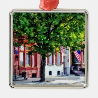 Harrisburg PA - Quiet Harrisburg Street Metal Ornament