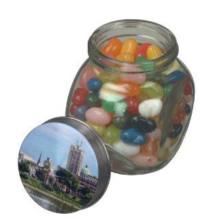 Harrisburg PA Skyline II Glass Jar