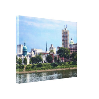 Harrisburg PA Skyline II Canvas Print