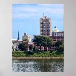 Harrisburg PA Skyline II Poster