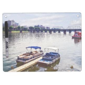 Harrisburg PA -View of Walnut Street Bridge Dry Erase Board With Keychain Holder