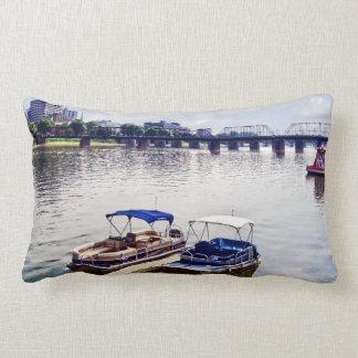 Harrisburg PA -View of Walnut Street Bridge Lumbar Pillow