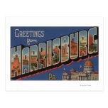 Harrisburg, Pennsylvania - Large Letter Scenes Postcards