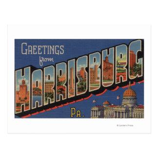 Harrisburg, Pennsylvania - Large Letter Scenes Postcard