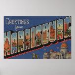 Harrisburg, Pennsylvania - Large Letter Scenes Print