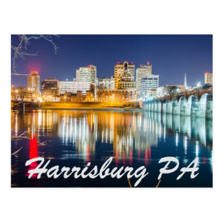 harrisburg pennsylvania skyline postcard