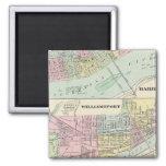 Harrisburg, Williamsport, Erie, Scranton 2 Inch Square Magnet