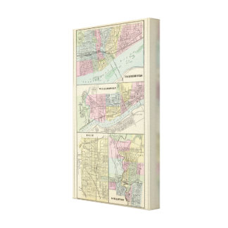 Harrisburg, Williamsport, Erie, Scranton Lienzo Envuelto Para Galerías