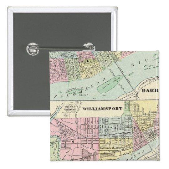 Harrisburg, Williamsport, Erie, Scranton Pinback Button