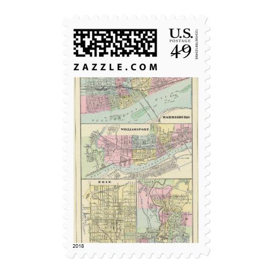 Harrisburg, Williamsport, Erie, Scranton Postage