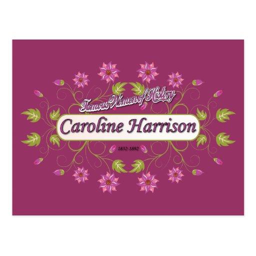Harrison ~ Caroline ~ Famous American Women Post Card