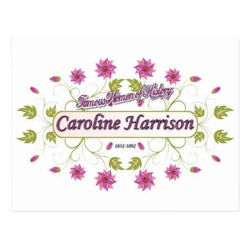 Harrison ~ Caroline ~ Famous American Women Postcards
