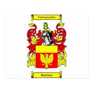 Harrison Coat of Arms Postcard