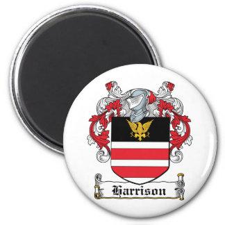 Harrison Family Crest 2 Inch Round Magnet