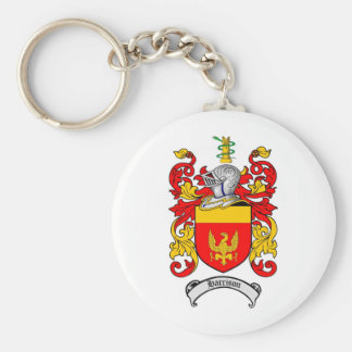 HARRISON FAMILY CREST -  HARRISON COAT OF ARMS BASIC ROUND BUTTON KEYCHAIN