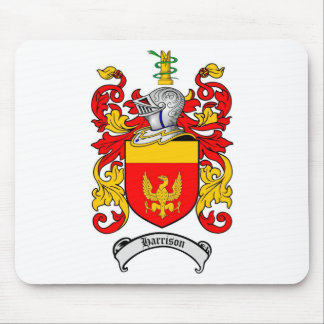 HARRISON FAMILY CREST -  HARRISON COAT OF ARMS MOUSE PAD
